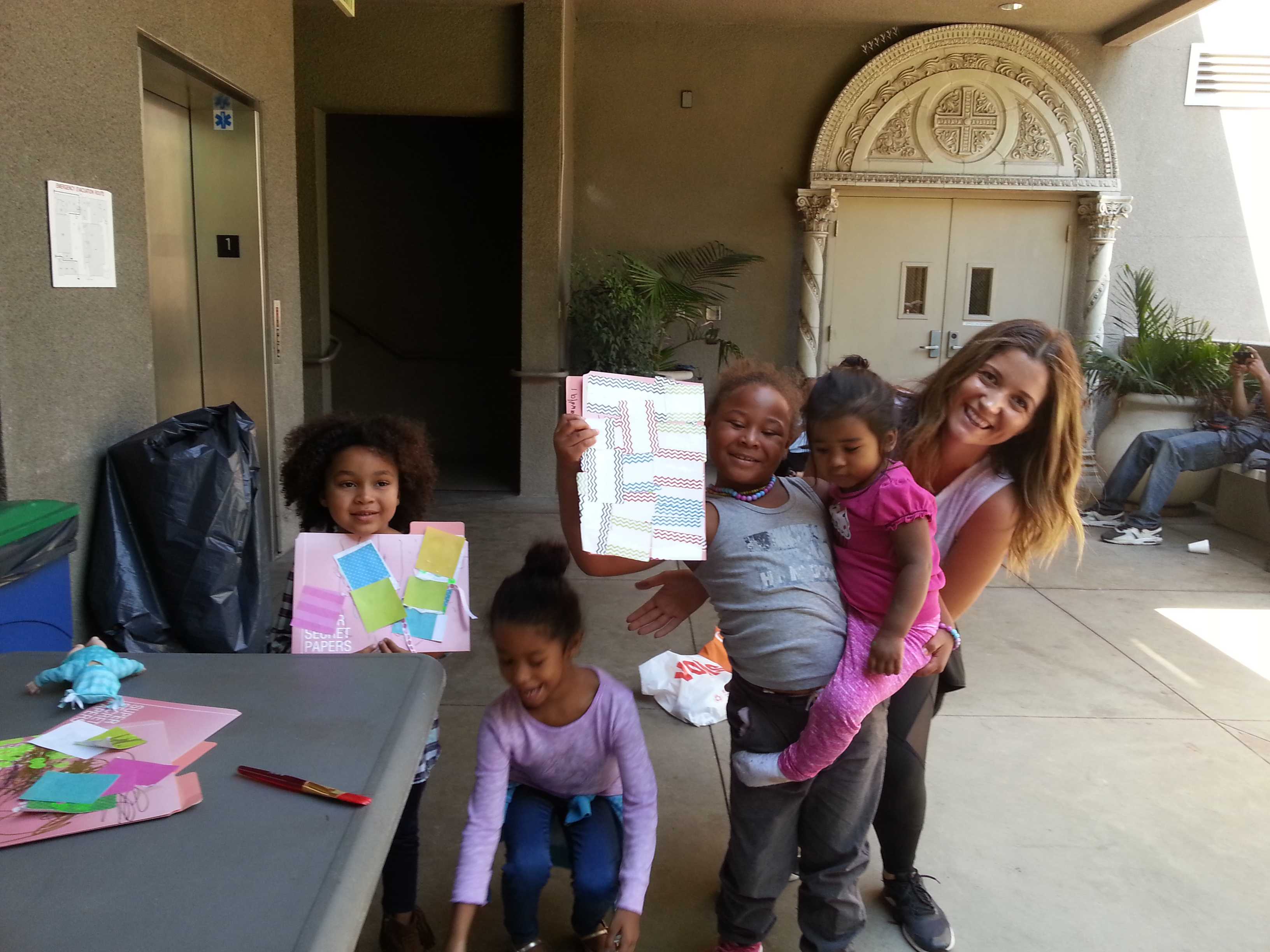 Children at the Drop in Center